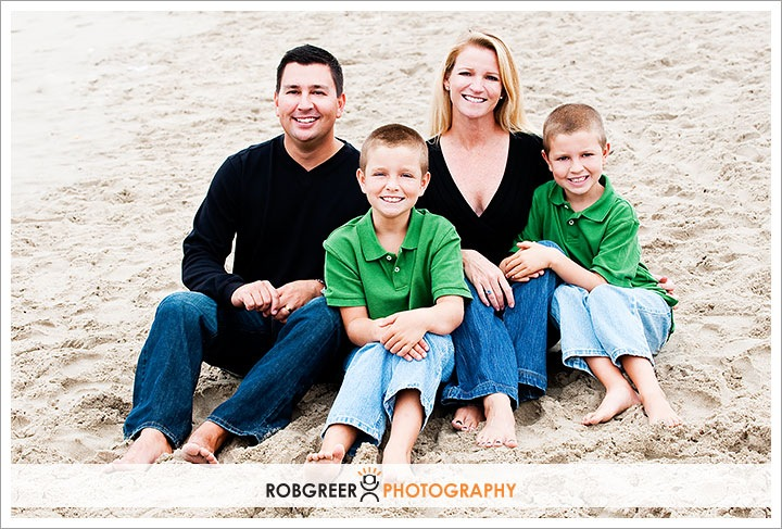 Santa Monica Pier Beach Family Portraits