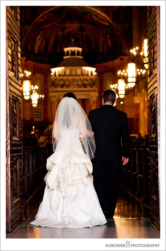 Wedding at at St. Andrews Catholic Church in Pasadena