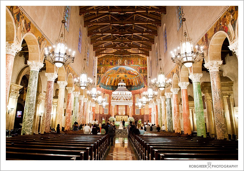 St. Andrews Catholic Church in Pasadena Wedding Photographer